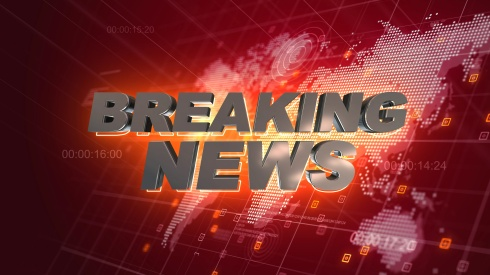 Breaking News Graphics World Map Red Background